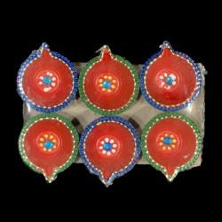 Satvik Colorful Clay Diyas...