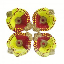 Colorful Clay Diyas (9) For...