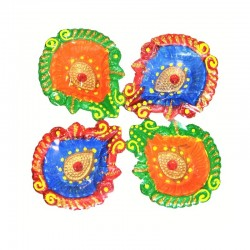 Colorful Clay Diyas (2) For...