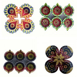 Colorful Clay Diyas (7) For...